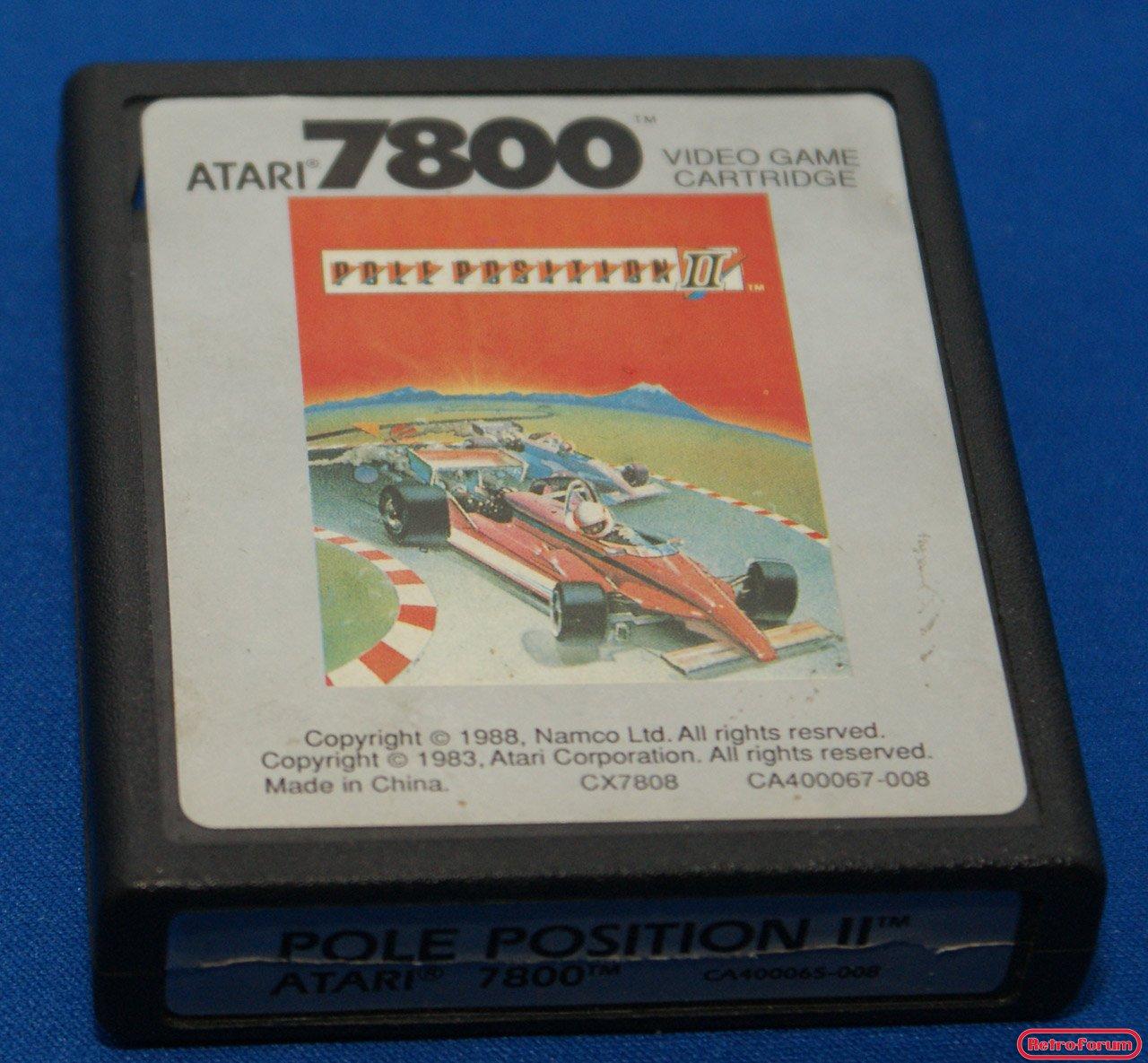 Pole Position II voor de Atari 7800