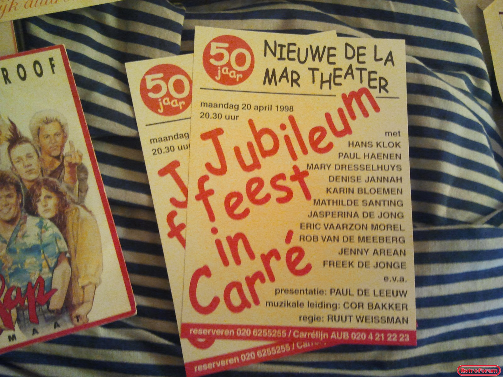 Jubileum feest in Carré - Flyers