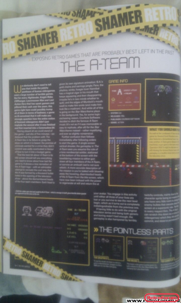 Retro Gamer Magazine Artikel The A-Team