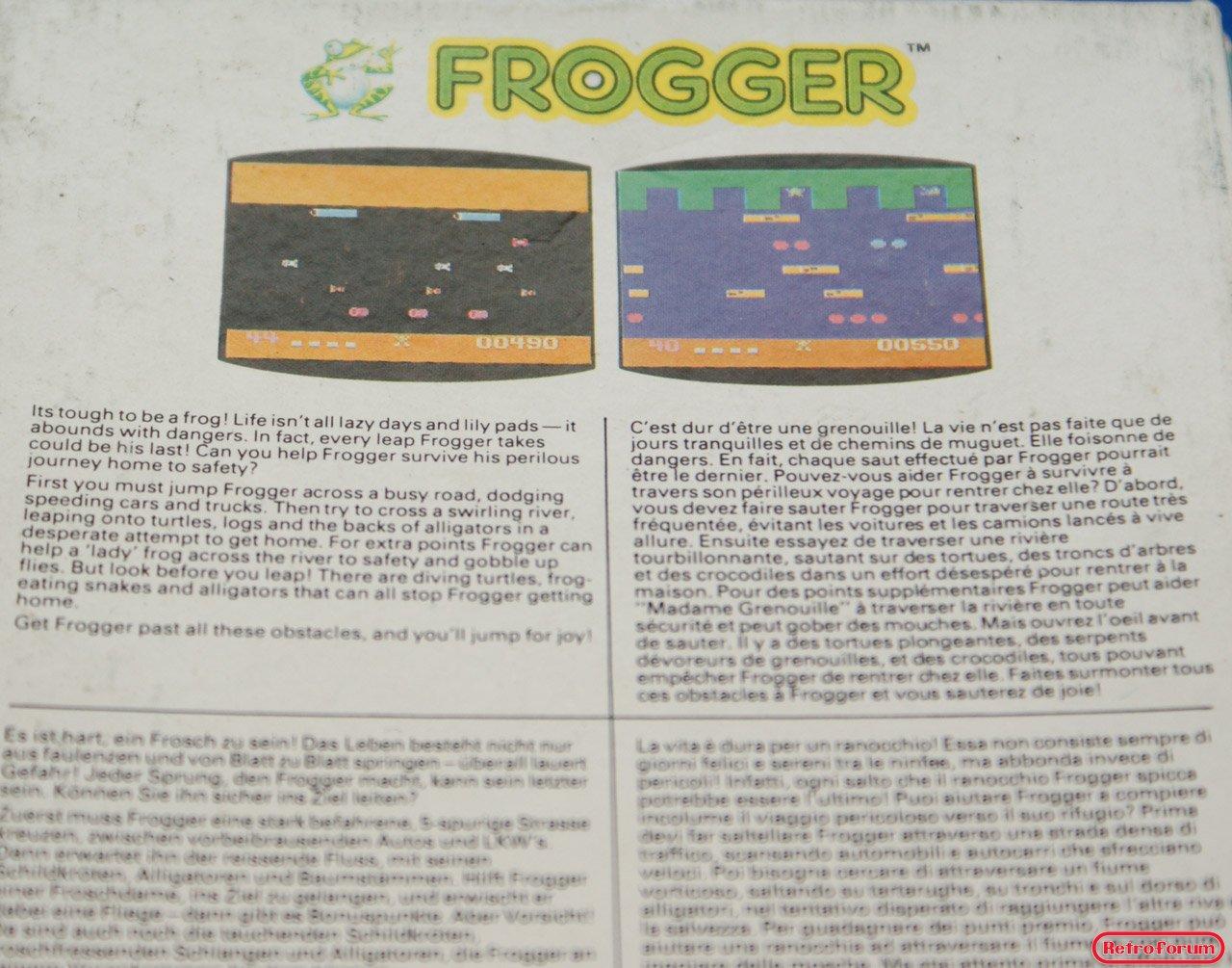 Frogger voor de Philips Videopac G7000 - achterzijde