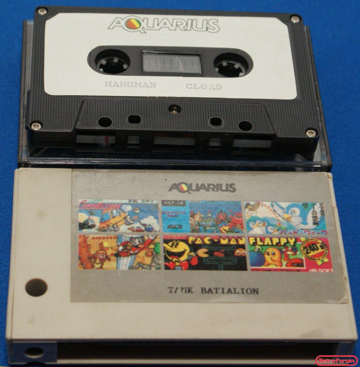 Cassette en cartridge voor de Mattel Aquarius