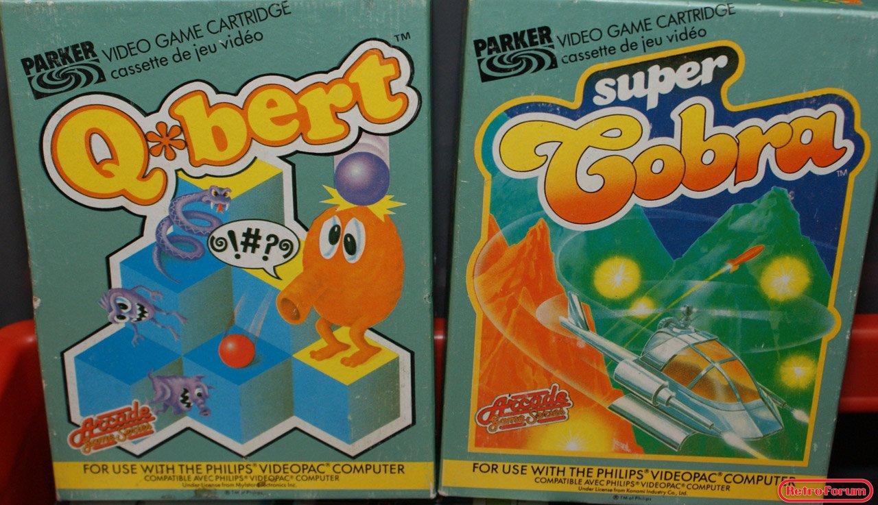 Q-bert en Super Cobra van Parker voor de Philips Videopac G7000