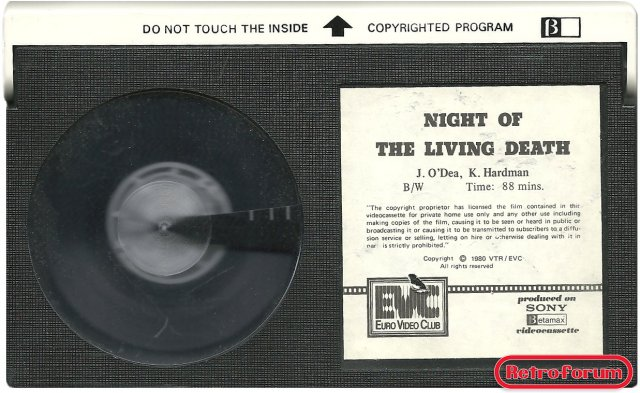 Night of the living dead - Betamax koopvideo