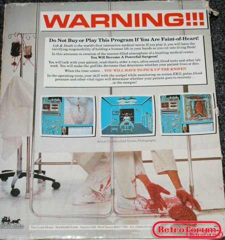 Life & Death (Amiga) achterkant