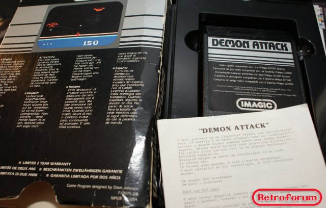 Demon Attack voor de Videopac G7000