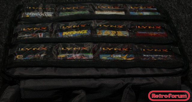 Atari Lynx opbergtas met games