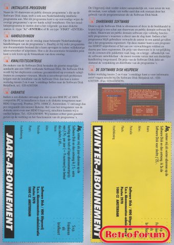 Software Disk jaargang 1 volume 2 - achterkant