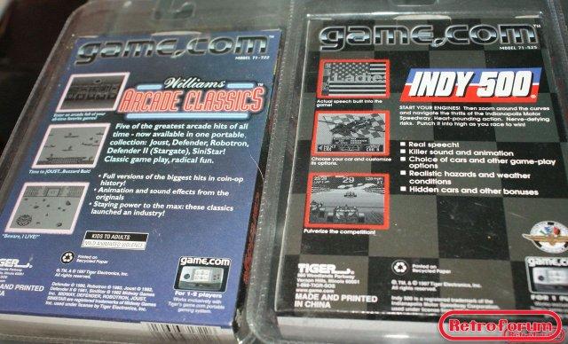 Williams Arcade Classics en Indy 500 voor Tiger Game.com (nieuw)