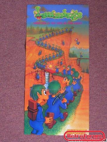 Lemmings Poster SNES