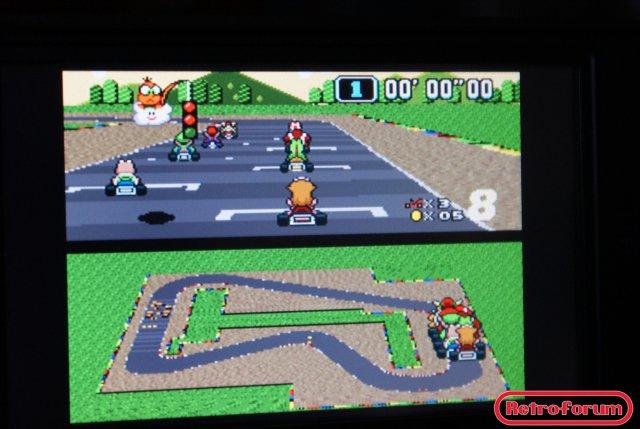 Super Mario Kart (SNES) op de OpenPandora