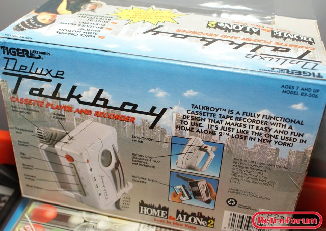 Tiger Electronics Talkboy uit Home Alone 2 - boxed, achterkant