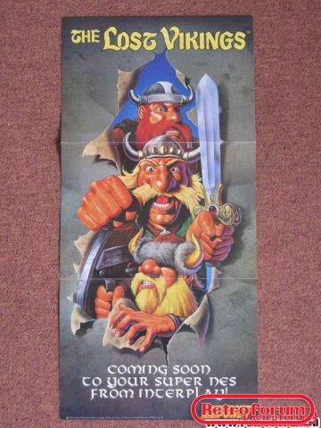 Lost Vikings Poster SNES