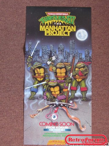 TMNT 3: The Manhattan Project Poster SNES