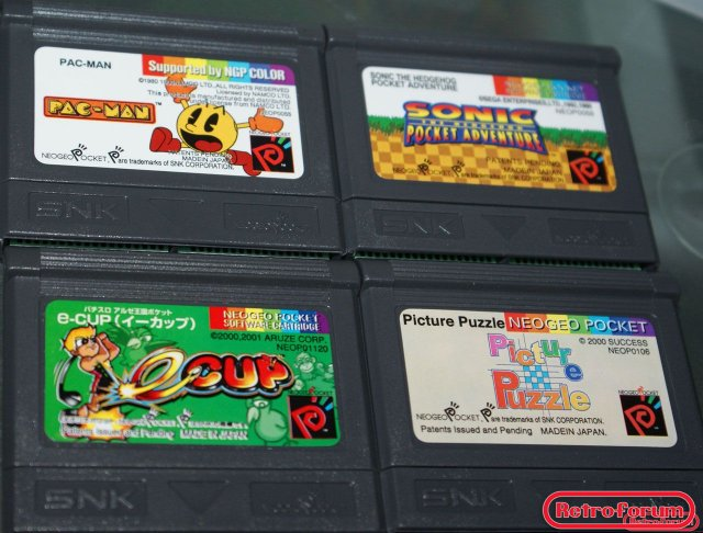 Pac-Man,  Sonic Pocket Adventure, e-cup en Picture Puzzle (NGPC)