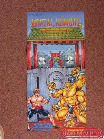 Mortal Kombat Poster SNES