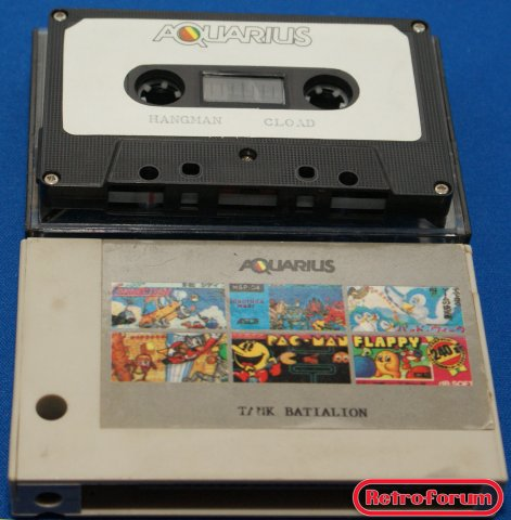 Cassette en cartridge voor de Mattel Aquarius