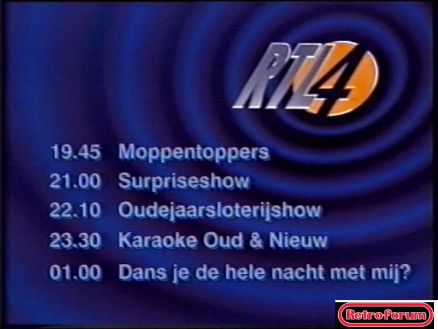 RTL4 Programmaoverzicht (1996/1997)