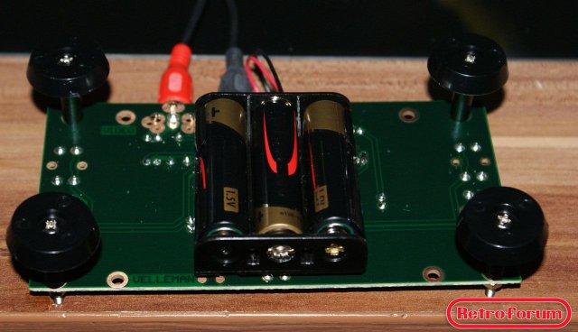 Zelfbouw Pong console onderzijde