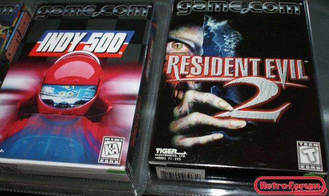 Indy 500 en Resident evil 2 voor Tiger Game.com (nieuw)