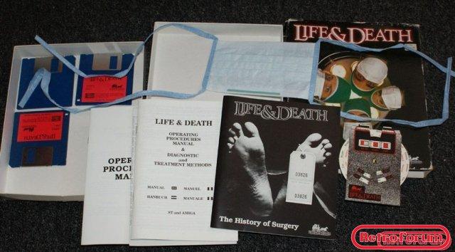 Life & Death (Amiga) inhoud van de box