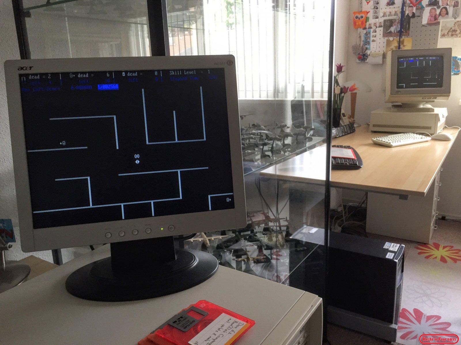 non-dedicated novell 2.2 met werkstation game